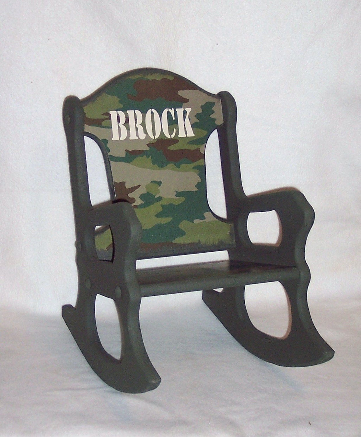 Childs Rocking Chair camo toddler by weaverwood on Etsy