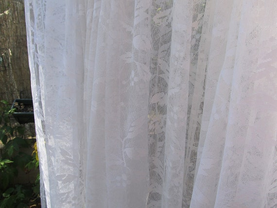 white lace curtain, french curtain panel, door curtain, sheer curtain