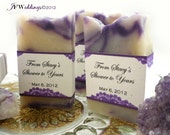 50 Vegan SOAP Favors ~ Bridal ~ Wedding ~ Scented in French Lavender with Lovely Lace Labels or Your Own Custom Designs ~ Handmade in 7 days