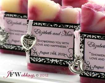 25 Soap Favors - Wedding Soap Favors - Bridal Shower Favor - Handmade Soap - Soap Favors -  Baby Shower Favor - Favours - Savon
