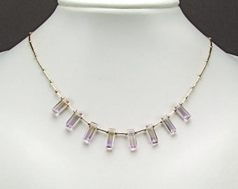 Gorgeous Faceted Ametrine Necklace - N306