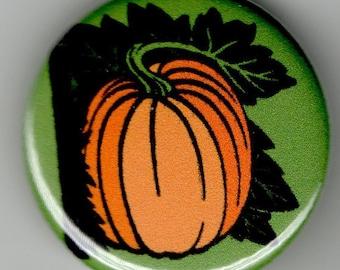 The Great Pumpkin  1.25 inch Pinback Button Vintage Illustration