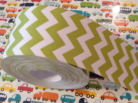 50 Yard Roll Chevron Paper Ribbon