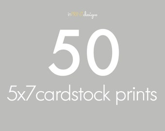 50 5x7 Cardstock Press Printed Cards, envelopes included
