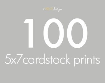 100 5x7 Cardstock Press Printed Cards, envelopes included