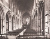 Chester Cathedral 1950's Postcard - The Nave Looking East - Old Cathedral Photo Postcard