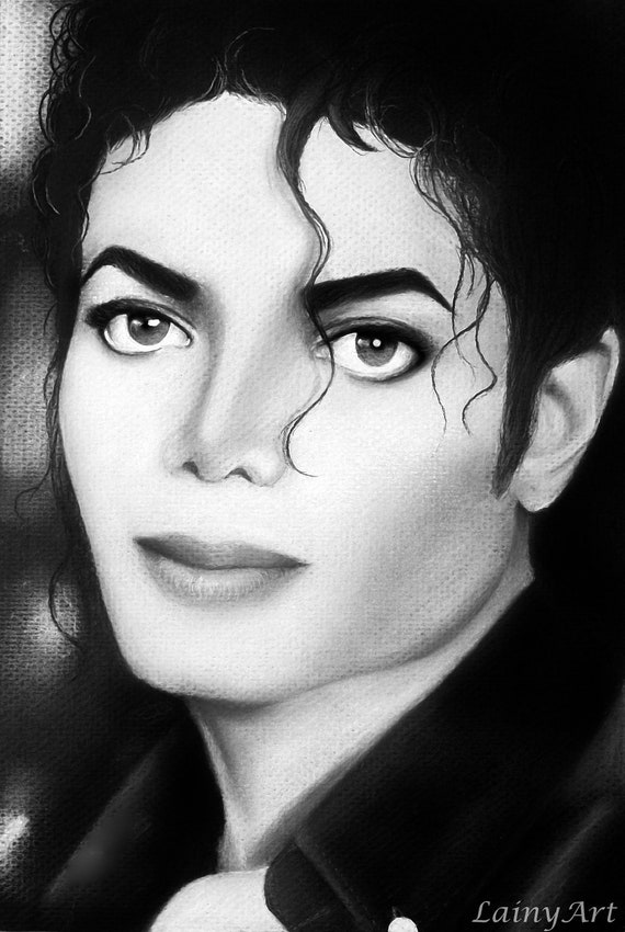 Items similar to michael jackson history 8x12 stretched for Black and white pictures of celebrities