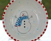 Ceramic snowman dish
