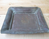 Vintage Copper Tray with Verdigris Patina