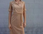 Vintage Tan Secretary Dress