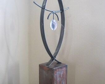 Abstract Metal art sculpture indoor/outdoor garden by Holly Lentz