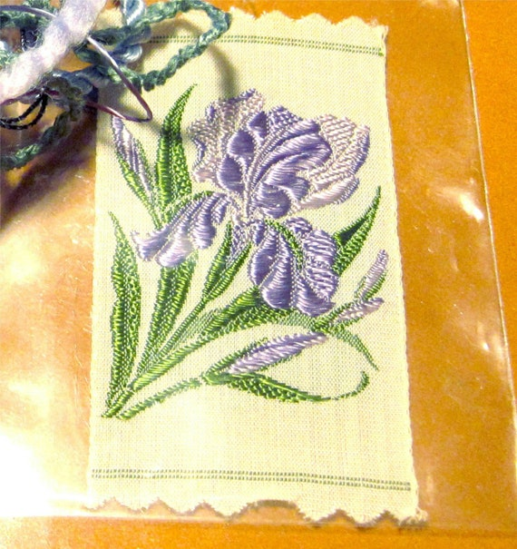 Kensitas Iris Tobacco Silk and CoOrdinated Crazy Quilt Embellishment Packet Fiber Arts