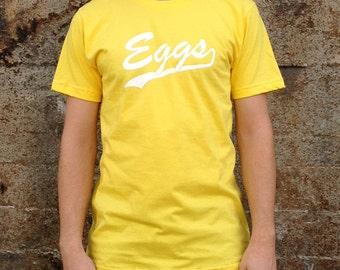 Eggs Breakfast T-shirt, Men's /Unisex American Apparel Yellow Tee