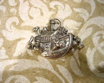 Vintage Sterling Silver Noahs Ark Necklace Pendant