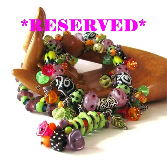 RESERVED FOR R. lampwork necklace lampwork jewelry long beaded necklace lampwork bead jewelry unique jewelry