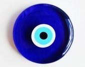 Circle Glass Evil Eye Paperweight
