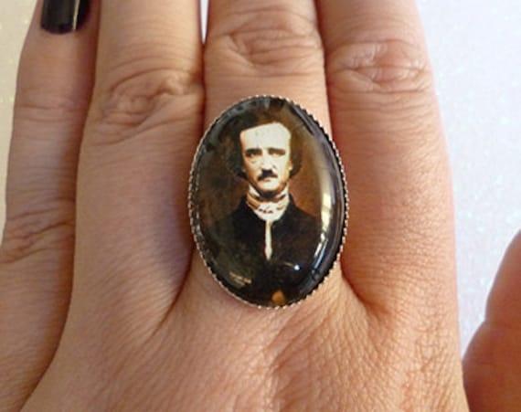 Edgar Allan Poe Inspired Cameo Ring