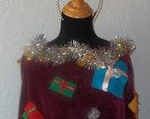 "An ""Ugly"" Christmas Shawl/Poncho with Tiara"