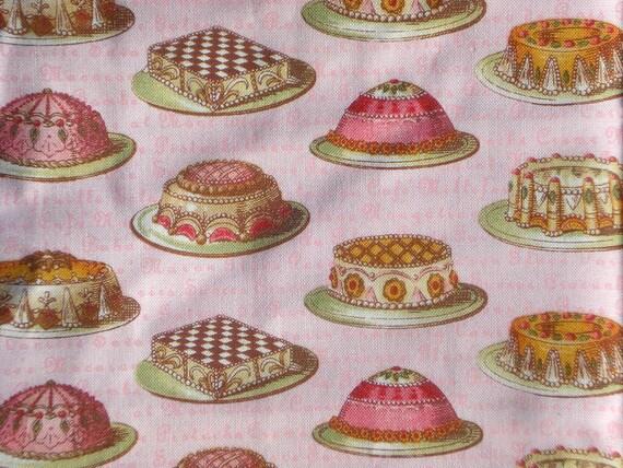 SALE : Tea Dainties pink Lake House Dry Goods fabrics FQ or more