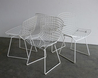 Vintage Knoll Bertoia Wire Side Chair (Set of 4)