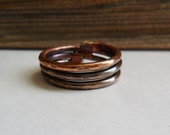 Three Rings Copper Ring