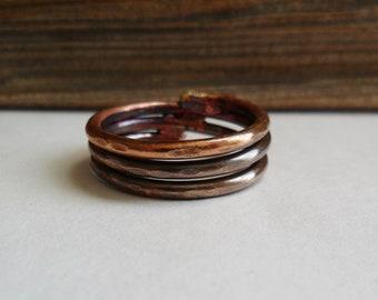 Three Rings Copper Ring