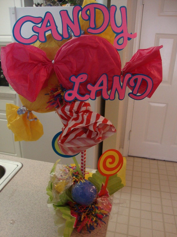 Candyland centerpiece - Candyland party table decorations ...