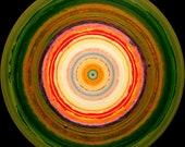 """Abstract Circular Mandala Drawing """"Drone"""""""