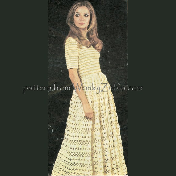 Vintage Crochet Pattern 205 PDF Lace Frock from WonkyZebra