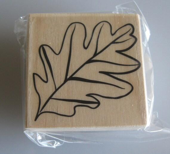 Oak Leaf Rubber Stamp Fall Autumn