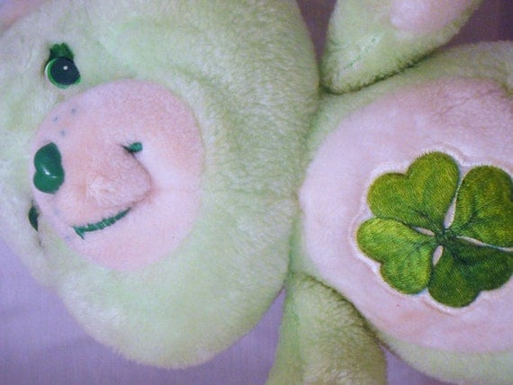 Good Luck Bear Care Bears 13 inch Plush Green