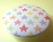 Pinback button : tiny pixelated stars