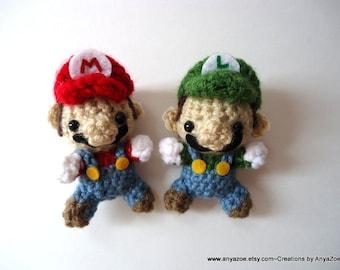 Mario and Luigi Amigurumi