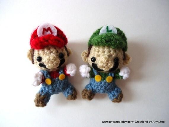 Amigurumi Mario Y Luigi : Mario and Luigi Amigurumi