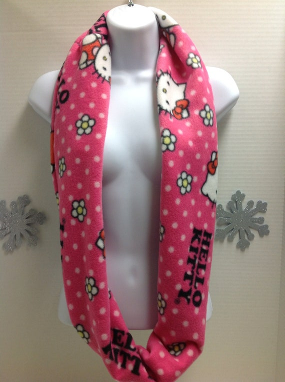 fleece hello infinity scarf by clee123 on etsy
