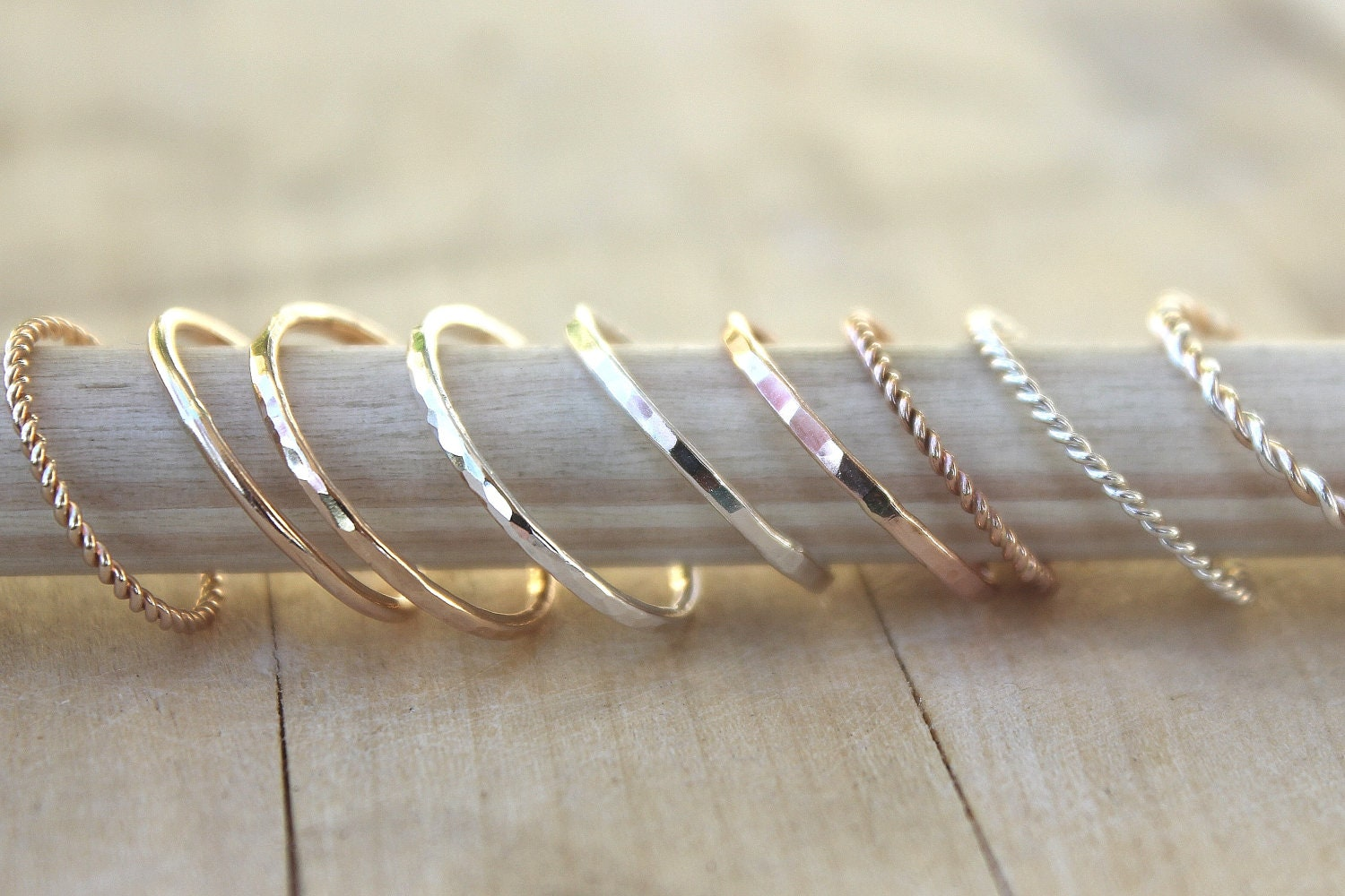 Stacking rings gold ring rose gold ring SIMPLE YOU PICK own