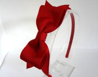 Red Bow Headband / Snow White Headband / Fouth of July Headband / Bow Headband for Adults & Girls / Red Bow / Adult Headband/ Girls Headband