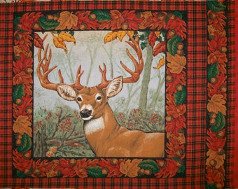 A Wonderful Buck Deer in Autumn in West Virginia  Fabric Panel Free US Shipping