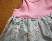 Size 18 months ready to ship tank top dress - out to sea -