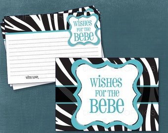 ZEBRA Advice, Prayers & Well Wishes. Printable Advice Cards by Tipsy Graphics. Any Colors.