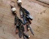 Seal Maiden - Tundra wilderness earrings