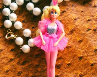 Ballerina Barbie necklace