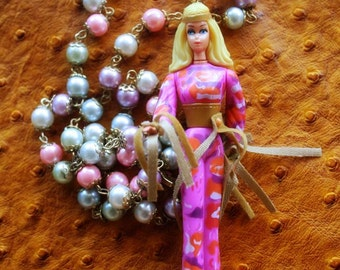 Hippie Barbie necklace