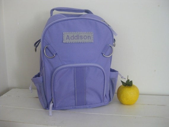 Pottery Barn Backpack With Monogram (Small Size) -- Lavender