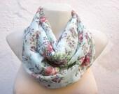 infinity scarf Loop scarf Neckwarmer Necklace scarf Fabric scarf  Mint Green Pink Lilac   Chiffon