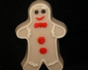 Holiday Gingerbread man Christmas soap