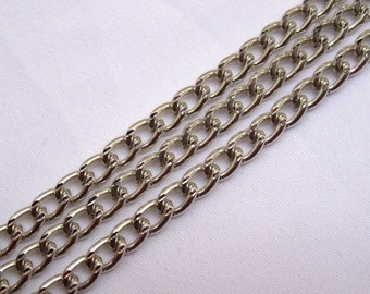 6ft Aluminum Curb Chain 3mm Link Jewelry Supplies ac064