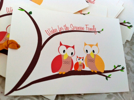 Reserved Listing for Megan - 20 Owl Wish Tree Cards