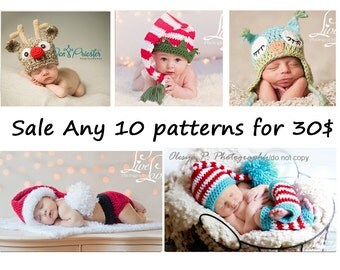 SALE ANY 10 PDF Patterns for 30.00