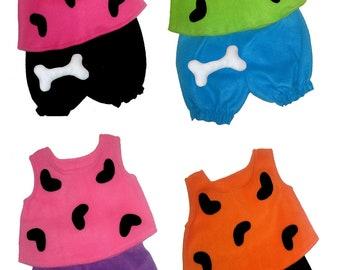 5/6 or 7/8 Flintstones Pebbles Halloween Costume Bone Hair Clip Boutique PAGEANT New